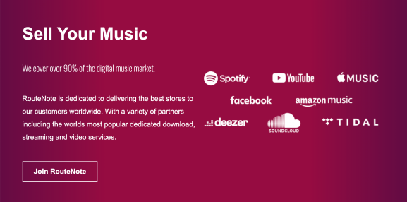 RouteNote takes an 'artist-first' approach to music distribution