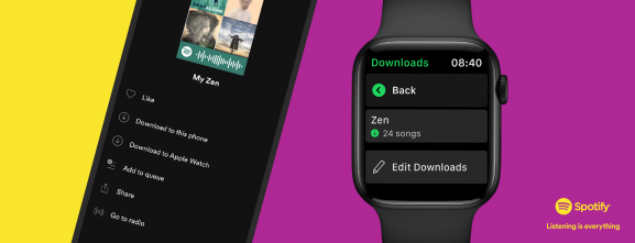 Spotify for Apple Watch finally adds offline support for music and podcasts