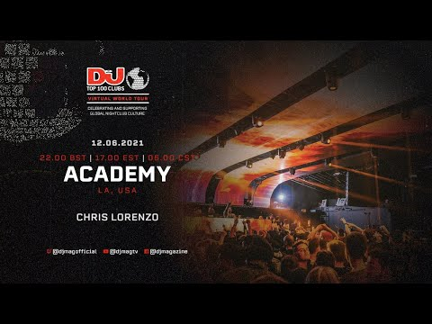 Chris Lorenzo for Academy, LA as part of the #Top100Clubs Virtual World Tour