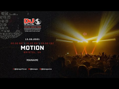 Manami live for Motion, Bristol as part of the #Top100Clubs Virtual World Tour