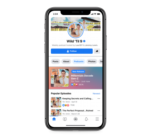 Podcasts and podcast clips are coming to Facebook next week