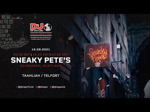 Taahliah & Telfort for Sneaky Pete's, Scotland as part of the #Top100Clubs Virtual World Tour