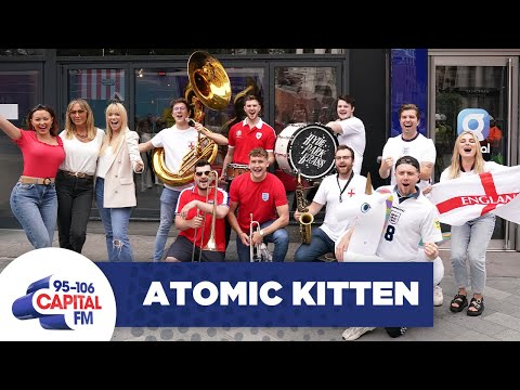 Atomic Kitten Perform 'Southgate You're The One' With A Brass Band 🏴   Capital