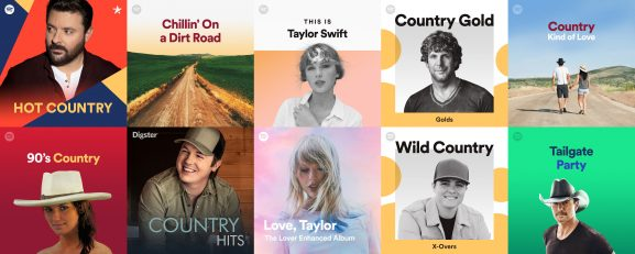 Most-followed country playlists on Spotify