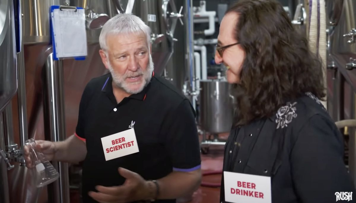 Rush legends Alex Lifeson and Geddy Lee unveil new signature ale with video