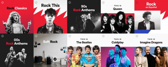 The biggest rock playlists on Spotify