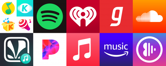 Top 10 music streaming platforms by monthly active users
