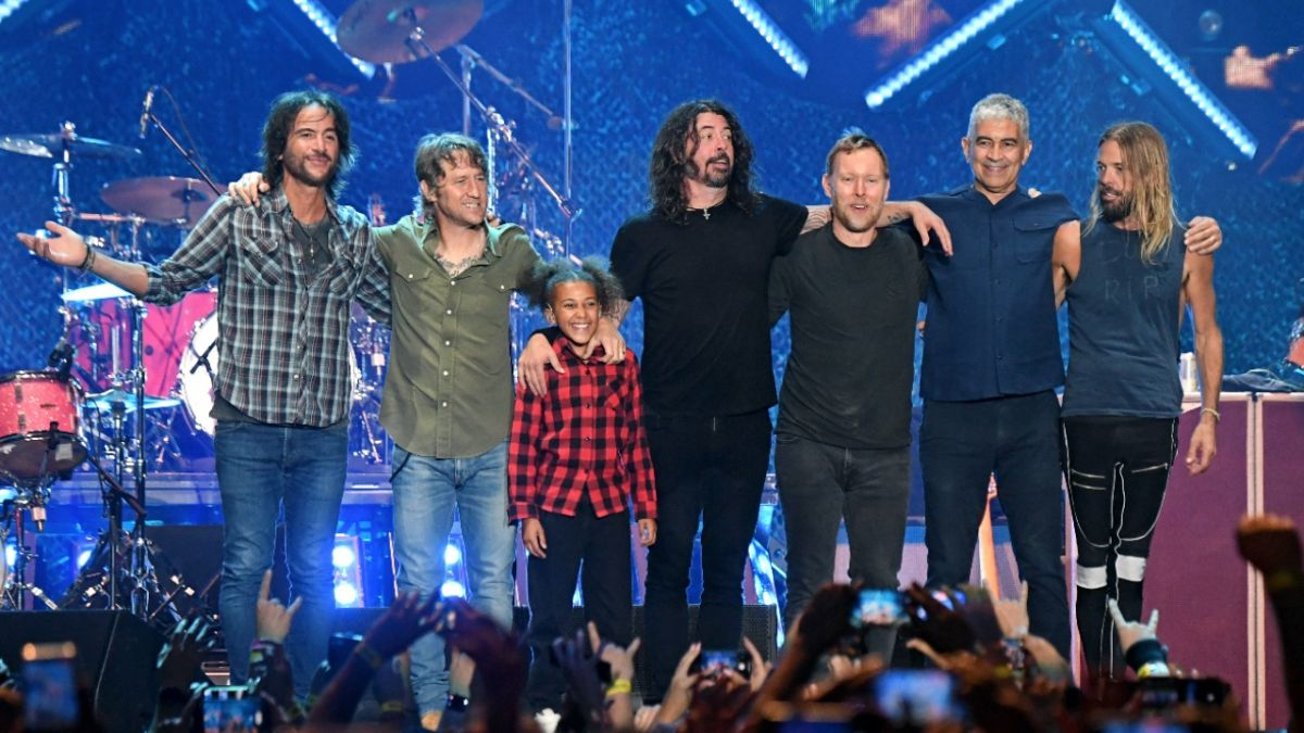 Watch 11 year-old Nandi Bushell perform on stage with Foo Fighters