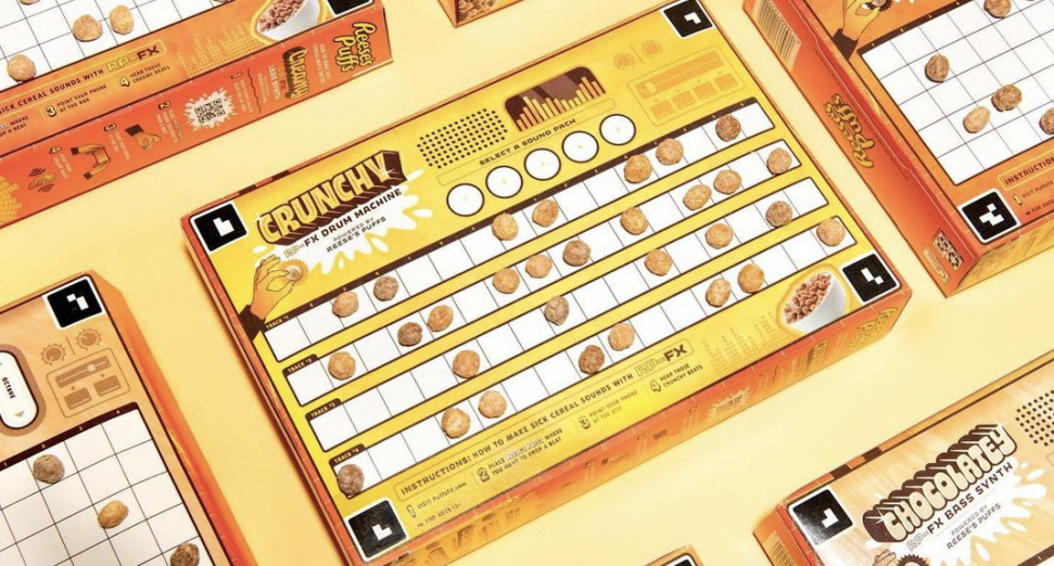 You can now make beats with a Reese's Puffs cereal box