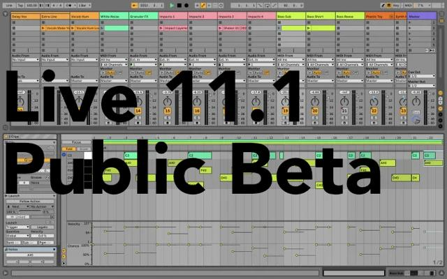 Ableton Live 11.1 Public Beta – M1 Native And Other Tweaks
