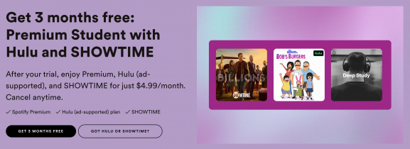 How to get Hulu and SHOWTIME for free with Spotify Premium