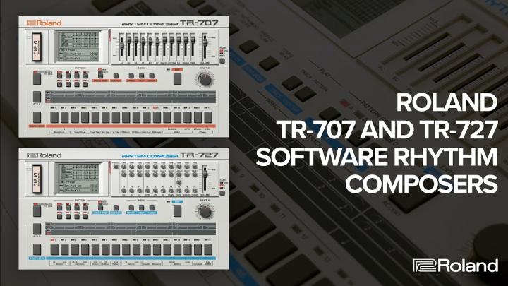 Roland TR-707 And TR-727 In Software