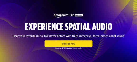 Amazon Music make spatial audio available with any headphones