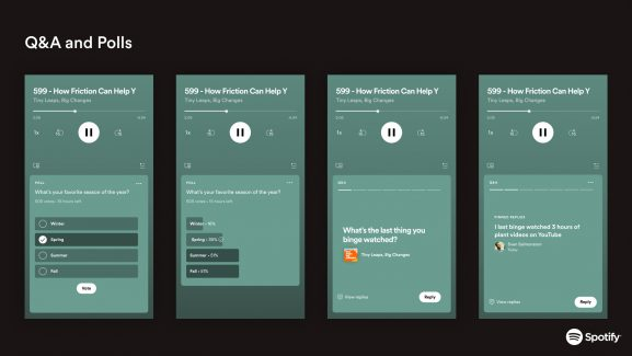 Interactive podcasts come to Spotify with podcast Q&A and Polls